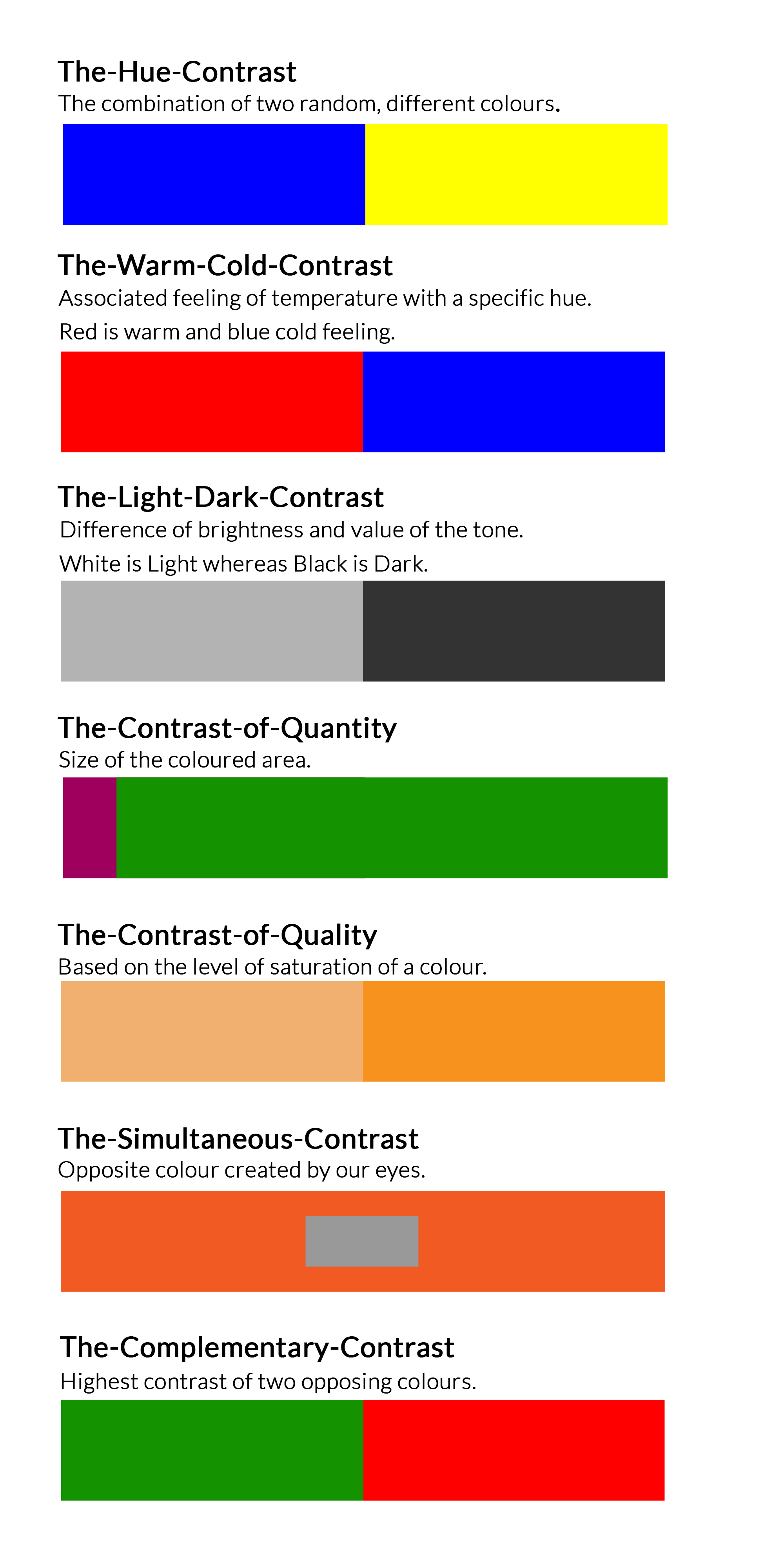 Colour Theory And Contrasts Natchurally